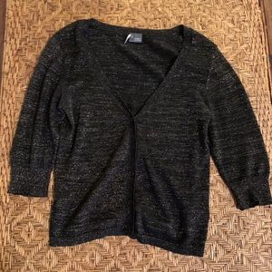 A  long sleeve cardigan